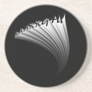 AAAAARGH! Text Image Text  Design Coaster