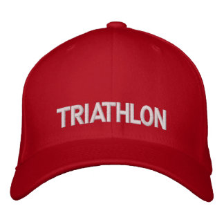 Aaaagasdfgdfgdsf bordado Triathlon del casquillo… Gorra De Béisbol