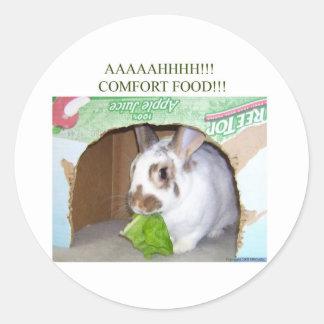 AAAAHHHH! Comfort Food! Classic Round Sticker