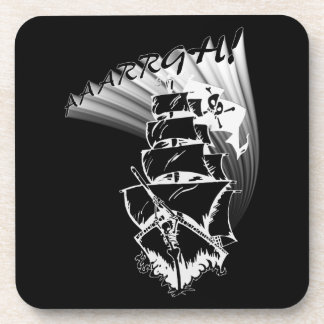 AAAARGH! It be a Pirate Ship! Beverage Coasters