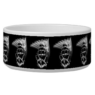 AAAARGH! It be a Pirate Ship! Dog Bowls