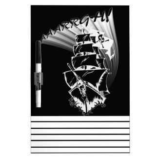 AAAARGH! It be a Pirate Ship! Dry Erase Boards