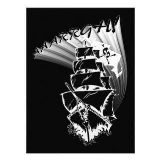 AAAARGH! It be a Pirate Ship! Personalized Invite