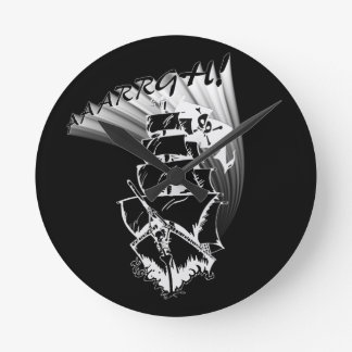 AAAARGH! It be a Pirate Ship! Round Clocks