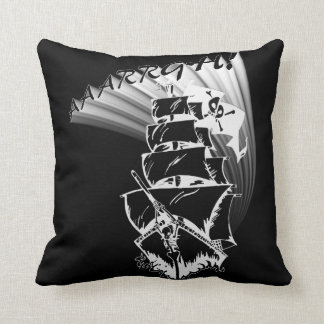 AAAARGH! It be a Pirate Ship! Throw Pillow