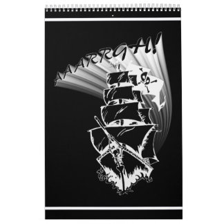 ¡AAAARGH! ¡Sea un barco pirata! Calendario De Pared