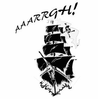 ¡AAAARGH! ¡Sea un barco pirata! Fotoescultura Vertical