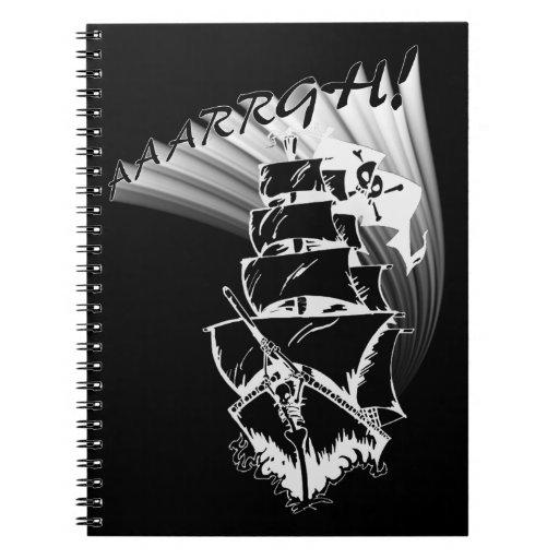 ¡AAAARGH! ¡Sea un barco pirata! Libro De Apuntes