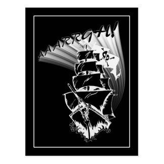 ¡AAAARGH! ¡Sea un barco pirata! Tarjetas Postales