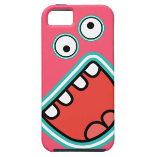 AAAH! Cute Screaming Monster Face  Pink iPhone SE/5/5s Case