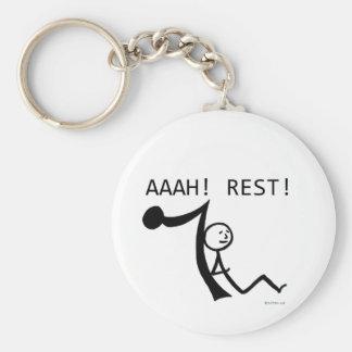 Aaah Rest! Basic Round Button Keychain