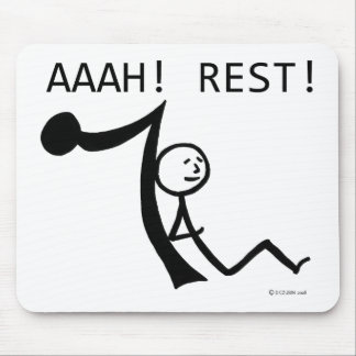 Aaah Rest! Mouse Pad