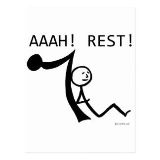 Aaah Rest! Postcard