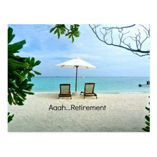 Aaah...retirement Postcard