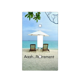 Aaah...retirement, relaxing beach scene light switch covers