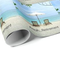 Aaah... retirement wrapping paper