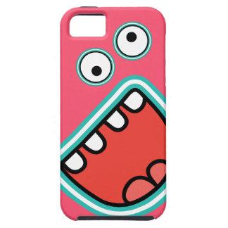 ¡AAAH Rosa de griterío lindo de la cara del monst iPhone 5 Case-Mate Carcasa