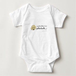 aaaoct6e my brother is a goldendoodle -more breeds baby bodysuit