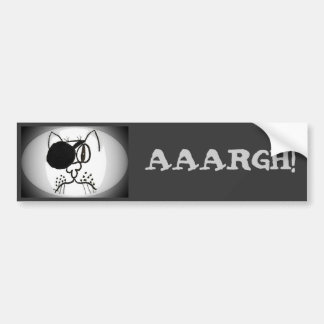 aaargh! Eye Patch Pirate Kitty Car Bumper Sticker