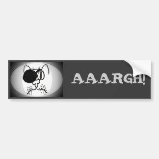 ¡aaargh! Gatito del pirata del remiendo del ojo Pegatina Para Auto