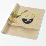 AAARGH - Pirate Parrot, Treasure Chest & Eye Patch Wrapping Paper