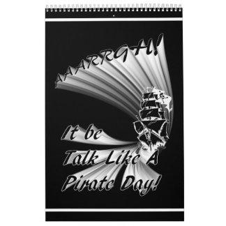 ¡AAARGH! ¡Sea charla como un día del pirata! Calendarios De Pared