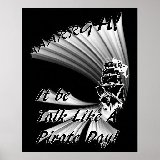 ¡AAARGH! ¡Sea charla como un día del pirata! Impresiones
