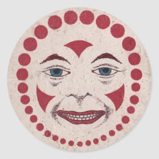 Aaargh! Sinister Clown! Classic Round Sticker