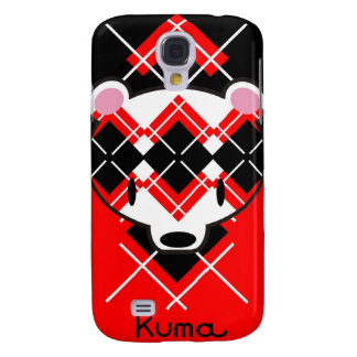 Aaargyle Red White and Black Kuma-chan Galaxy S4 Case