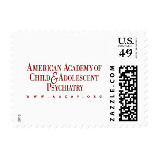 AACAP Small 46 Cent Stamp - Classic Burgundy Log