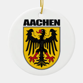 Aachen Double-Sided Ceramic Round Christmas Ornament