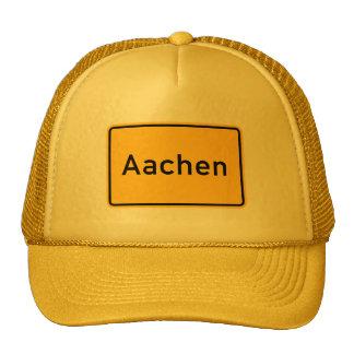 Aachen, Germany Road Sign Trucker Hat