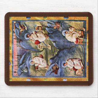 Aachen Gospels, Folio 13R By Karolingischer Buchma Mouse Pad