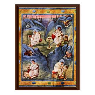 Aachen Gospels, Folio 13R By Karolingischer Buchma Postcard