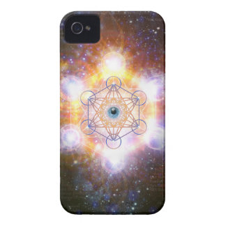 """Aad Guray Nameh""-Protective Mantra-Merkaba iPhone 4 Case"