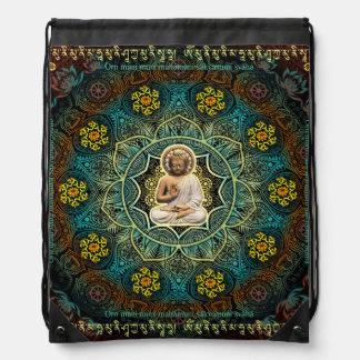 """""""Aad Guray Nameh""""-Protective Mantra-Merkaba Drawstring Bag"""