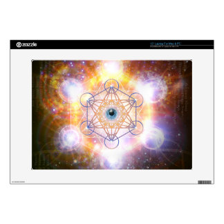 """Aad Guray Nameh""-Protective Mantra-Merkaba Laptop Decal"