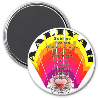 AALIYA Girl Name and Meaning on Round Magnet