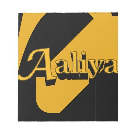Aaliya Notepad