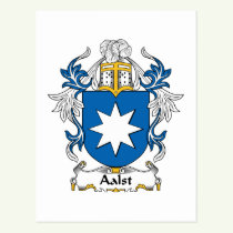 Aalst Family Crest Postcard