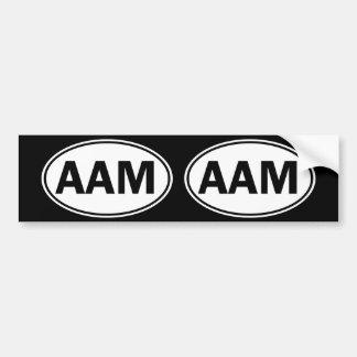AAM Oval ID Bumper Sticker