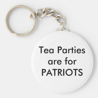 aam Tea Parties Keychain