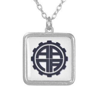 AANA GEAR SILVER PLATED NECKLACE