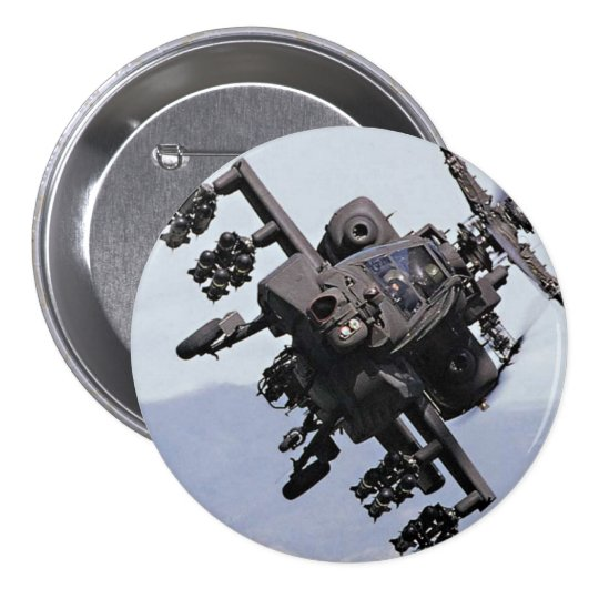 Aapache Attack Helicopter Pinback Button