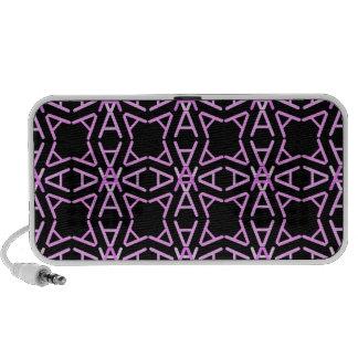 AaParade Cool Pinks on Black Travelling Speakers