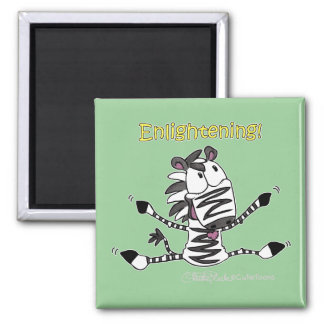 Aaran the Zebra Enlightening 2 Inch Square Magnet