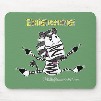 Aaran the Zebra Enlightening Mouse Pad