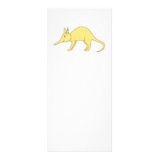 Aardvark amarillo. Animal lindo del dibujo animado Tarjeta Publicitaria