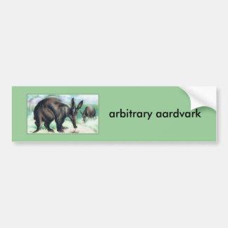 aardvark arbitrario pegatina para auto