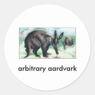 aardvark arbitrario pegatina redonda